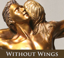 Without Wings - bronze sculpture